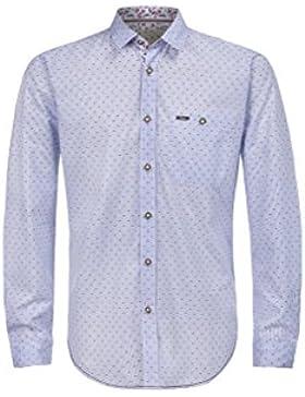 Michaelax-Fashion-Trade Stockerpoint - Herren Trachtenhemd in Hellblau, Kito