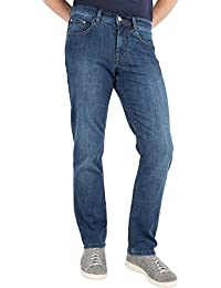 Brax Cooper Denim Herrenhose: Regular Fit Herrenjeans mit exclusiver Carbon Veredelung und Indigo Färbung, optimale Passform, atmungsaktives Baumwoll-Tencelgewebe, Art.-Nr. 80-3000