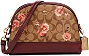 COACH dome crossbody bag in signature canvas with prairie daisy cluster print