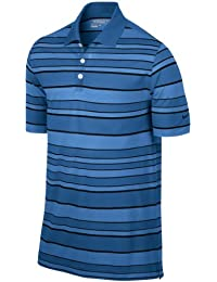 NIKE Bold Stripe Polo Homme Bleu/Noir