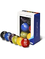 "Longridge, Palline da golf ""Keep Calm"", 6 pz., Multicolore (Multicolore)"