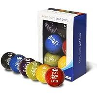 Longridge, Palline da golf Keep Calm, 6 pz, Multicolore (Multicolore)