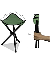 1 Pc Of Folding Portable Tripod Stool By Redsign Folding Chair With Carrying Case For Outdoor Camping Hiking Fishing...