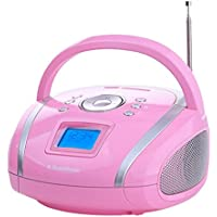 AudioSonic RD-1566 - Radio (Portátil, Digital, FM, 4W, Azul, 700g) Rosa
