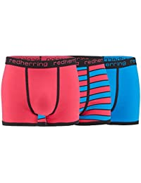 Red Herring Mens Pack Of Three Pink and Blue Hipster Trunks From Debenhams L