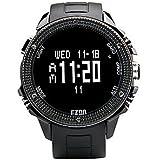 LISABOBO @ famosa marca de relojes H501 EZON caminatas al aire libre brújula altímetro barómetro de deporte grande del dial relojes para hombres
