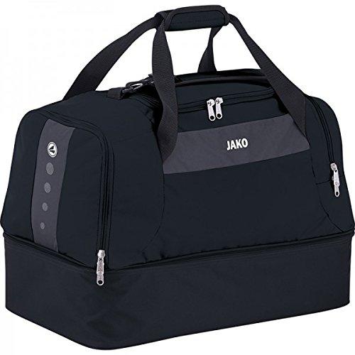 JAKO Sporttasche Striker - mit Schuhfach, Größe:Senior, Farbe:schwarz/grau