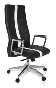 Amstyle Design SPM1.155 Chaise de bureau Noir cuir