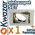 K-23 Einbaustrahler Set Inkl Gu10 230v Fassung - Nickel Matt Innox von Kwazar