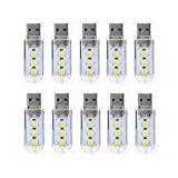 YQXR LED Birnen, Luce 2019 Mini USB LED, Portable Energy Efficient bambini Bambina Notte USB tastiera del computer portatile luce, 5V LED Keychain lampada, 10-Pack (Color : Warm white)