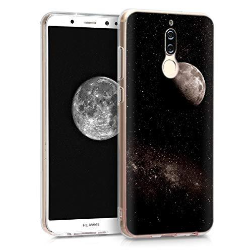 kwmobile Huawei Mate 10 Lite Hülle - Handyhülle für Huawei Mate 10 Lite - Handy Case in Hellgrau Schwarz