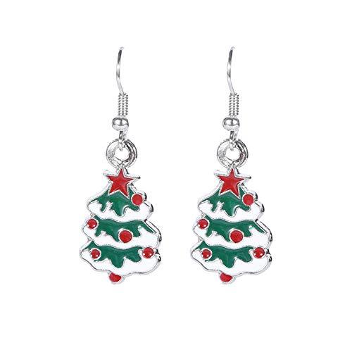 Mode Cartoon Weihnachtsbaum ES0214 Modelle Ohrringe Ohrringe ein Paar Kleid Weihnachtsstrümpfe socken Stil Fügen Sie eine festliche Atmosphäre hinzu