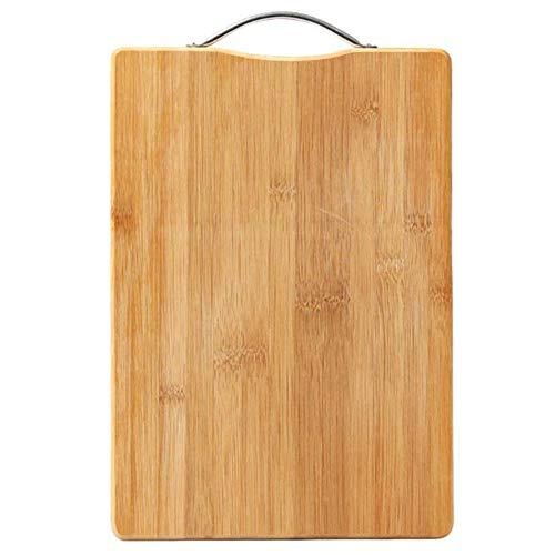 RNGNB Bambus-Schneidebrett-Küche, hängbare Hackklötze-Lebenszeit-Ersatz-Bretter-organisches hölzernes Metzger-Block-hölzernes schnitzendes Brett Cutting Board -