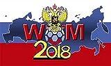 Fahne WM 2018 (Russland mit Adler) Flagge 90x150 cm Hissfahne mit Ösen