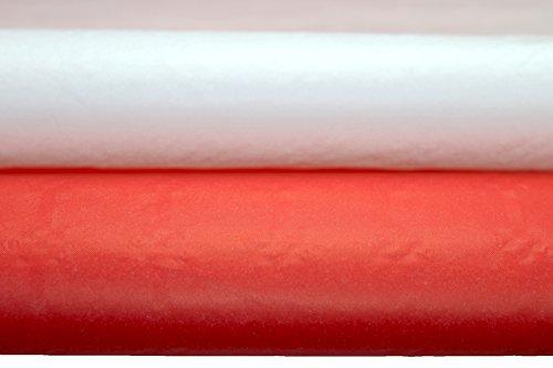 ischtuch I Tischtuchrolle mit Damastprägung weiß I rot (4 Stück) 10 x 0,99 m individuell zuschneidbar I Gartenparty I Geburtstagsfeier I Weihnachtsfeier I Weihnachten I PARTY (weiß/rot (2+2 Stück)) (Rotes Papier Tischdecken)