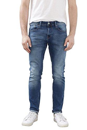 edc by ESPRIT Herren Jeanshose 997CC2B804, Blau (Blue Medium Wash 902), W30/L34 Herren-skinny-leder-jeans