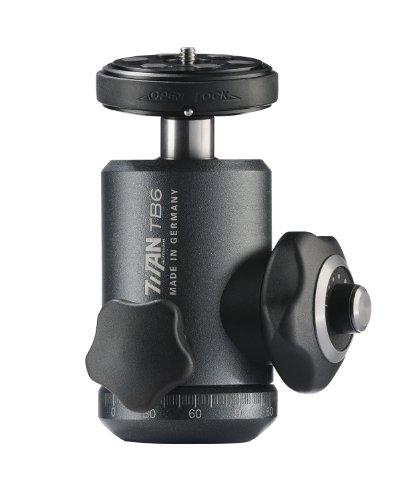 Cullmann Titan TB6.2 Rotule professionelle + PinLock plaque caméra anti-torsion Charge max. 25 kg pour DSLR appareil photo numérique reflex moyen format pour Canon Nikon Sony Hasselbad Leica