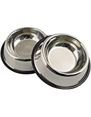 Pawfection Stainless Steel Bowl for Feeding Small Dogs Cats and Kittens Only (400ML X 2) Small