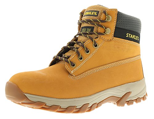 new-mens-gents-honey-stanley-lace-up-steel-toe-cap-safety-boots-honey-uk-size-8