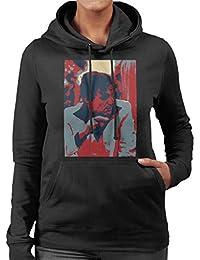 Hugh Hefner Playboy King 1981 Women's Hooded Sweatshirt