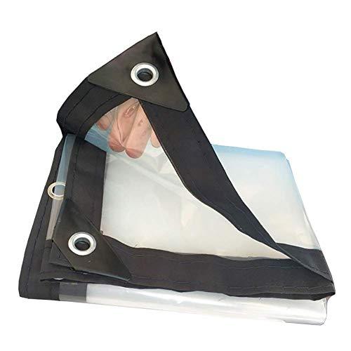 WYZBD Glas transparente Plane transparente Stoffkante verstärkte Kunststofffolie, 21 Größen (Farbe: transparent),5 * 6m -