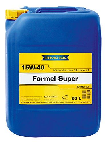 RAVENOL Formel Super SAE 15W-40 / 15W40 Mineralisches Motoröl (20 Liter)