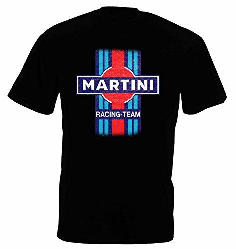 Herren T-Shirt MARTINI Racing Team Porsche Kurzarm ( Schwarz , M ) (Racing-team-t-shirt)