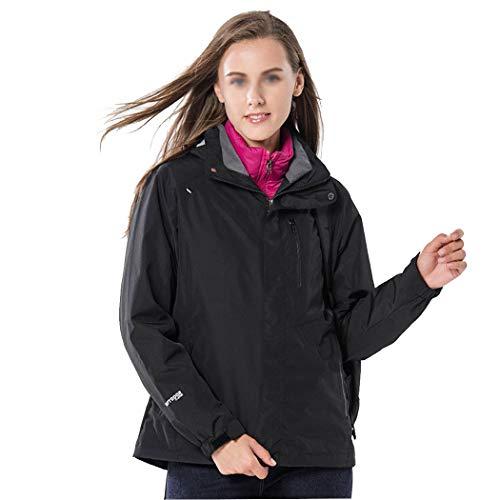 HUIFA Piumino da Donna Autunno E Inverno Giacca da Esterno Giacca da Alpinismo in Due Pezzi Tuta da Sci Abbigliamento da Lavoro A Freddo (Color : Black, Size : M)