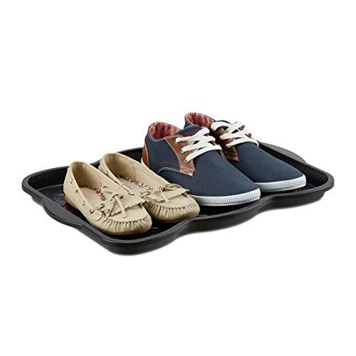 Schuhmatte Schuhablage Polypropylen Schwarz Ablage Flur Schuhe Boden Kunsstoff