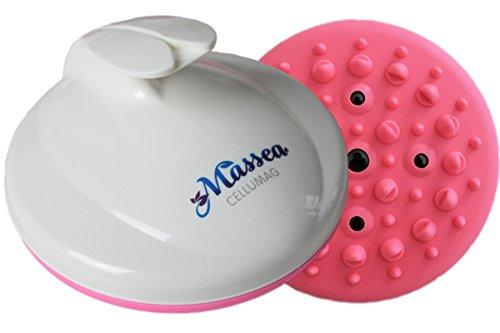 CelluMag Anti Cellulite Massagebürste mit Magneten gegen Orangenhaut. Für straffe Haut, Massage, Wellness und Beauty (Pink)