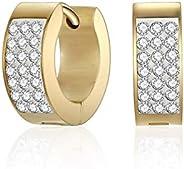 Mestige Women's Gold Plated Crystals Rosie Hoop Earrings, Gold- MSER