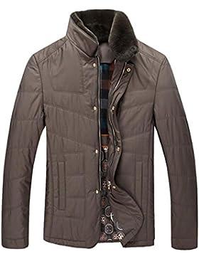grueso collar de piel de visón de largo por la chaqueta de los hombres de la chaqueta , , m