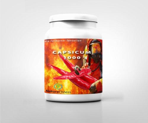 Capsicum 150 Kapseln - Mexico Chili Fatburner für Bauch-Beine-Po