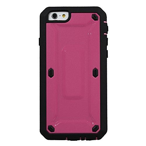 """xhorizon® Für iPhone 6 (4.7"""") Schwerlast Doppelschicht Stoßfest Gehäuse Hülle / Weich HybridCase Hülle + XHORIZON Stift & Reinigungstuch Pink"""