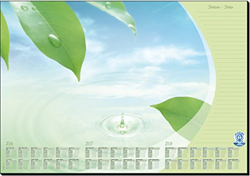 Sigel HO420 Schreibunterlage aus Recycling-Papier, mit 3-Jahres-Kalender, 59,5 x 41 cm, 30 Blatt (Kalender Recycling-papier)