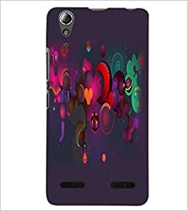 PrintDhaba Pattern D-2159 Back Case Cover for LENOVO A6000 (Multi-Coloured)