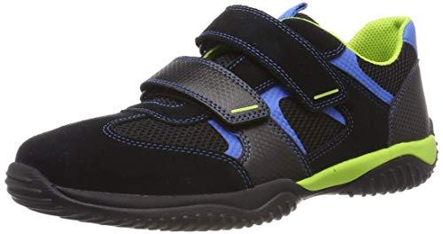 Superfit Jungen Storm Sneaker, Schwarz/Blau 00, 33 EU