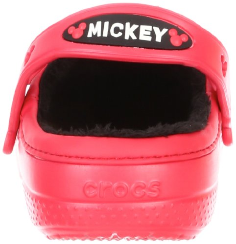 Crocs Mickey Mouse & Goofy Lined Clog, Mules mixte enfant Red/Red