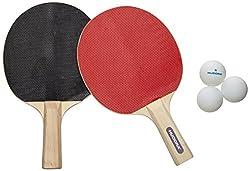 HUDORA Tischtennis-Set Match - 2 Tischtennis-Schläger + 3 Tischtennis-Bälle