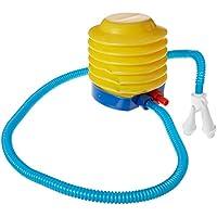 Sourcingmap Plástico Inflador Bomba de Mano Pie Azul Amarillo para Flotador