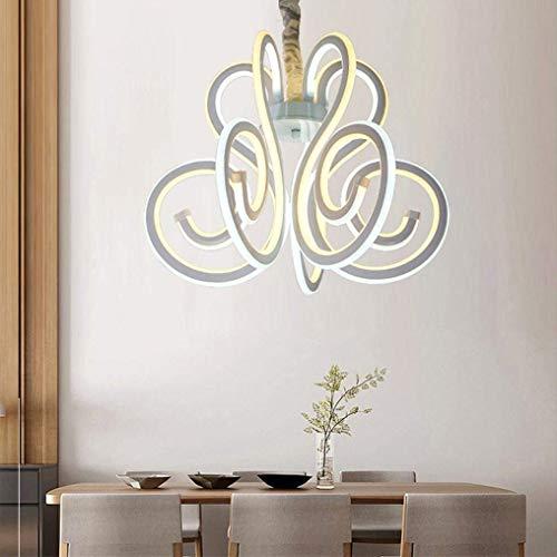 W-LI Led 36W Moderne Elegante Pendelleuchte Spiral Design Eisen Hängelampe Acryl Lampenschirm Einzigartige Innovative Hängelampe 3000K Warmes Weiß -