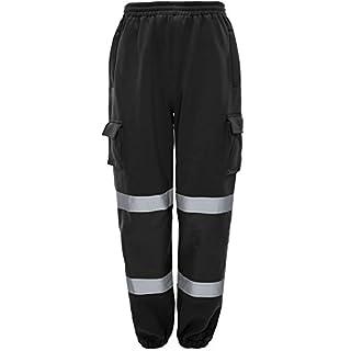 Hohe Sichtbarkeit Kampstiefel Arbeits Jogging Hose, - Black - Corporate/security colours, XXL W38-42