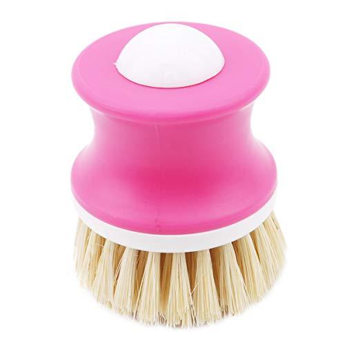 Winwinfly Hydraulische Plastikseifen-Waschbürsten, die Spülbürste-Küchen-Gadgets-Reinigungswerkzeug, Rosa abgeben