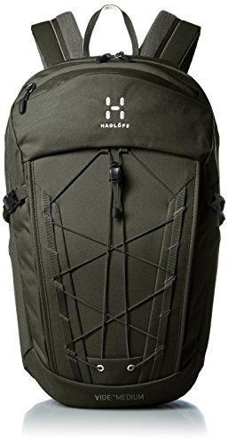 Haglöfs Vide Medium Polyamid Grün Rucksack Rucksack für Laptops und Netbooks (Polyamid, grün, Einfarbig, 500D, Vordertasche, Seitentasche, Tasche mit Reißverschluss)