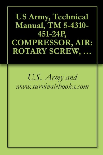 US Army, Technical Manual, TM 5-4310-451-24P, COMPRESSOR, AIR: ROTARY SCREW, 750 100 PSI, WHEEL-MOUNTED, DED SULLAIR MODEL 750 DP, (NSN 4310-01-053-3891), ... manauals, special forces (English