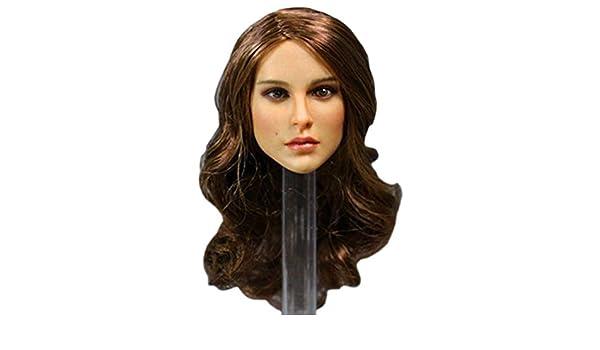 H0/_V Frauen Kopf Sculpt Headsculpt f/ür 1//6 Action Figur Model