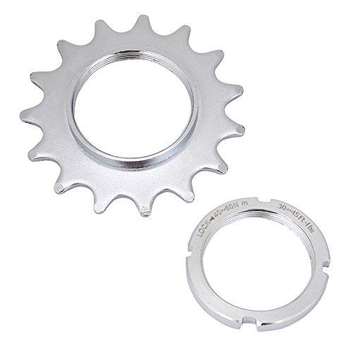 Dioche Single Speed convertitore, singola velocità 13/14/15/16bici ruota libera acciaio Cog Fixed Gear Cogs + Lock Ring, 15T