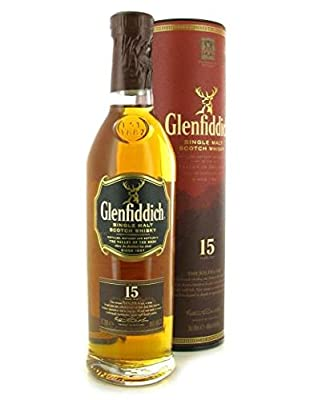 Glenfiddich 15 Year Old Malt Solera Vat Single Malt Scotch Whisky 20cl Bottle x 3 Pack