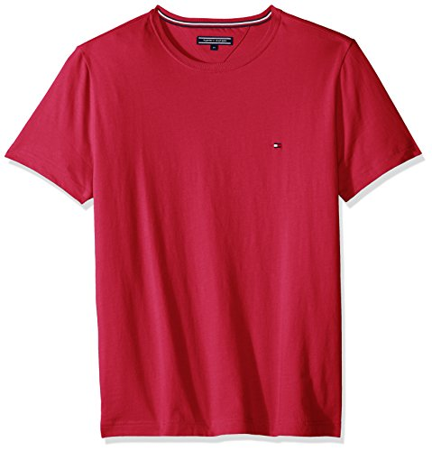 Tommy Hilfiger Herren T-Shirt New Stretch C-nk Tee S/S Sf Rot