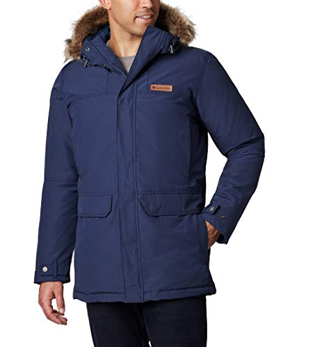 Columbia Men's Waterproof Parka, Marquam Peak, Collegiate Navy, Large